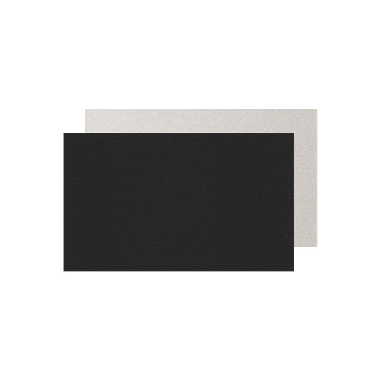 ネームカード 細布 ブラック×グレー