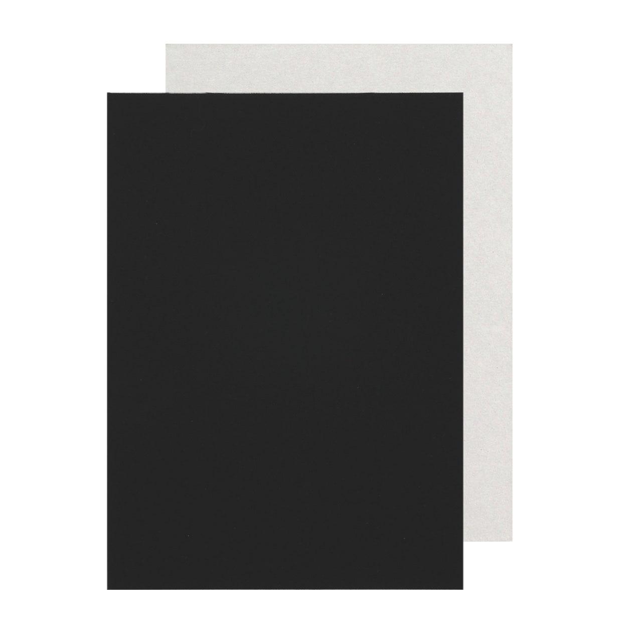 A6カード+30 細布 ブラック×グレー