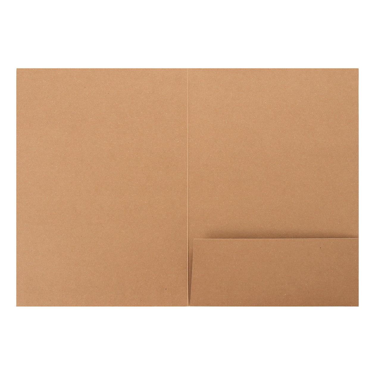 A4フォルダー 1ポケット ボード紙 ブラウン 270g