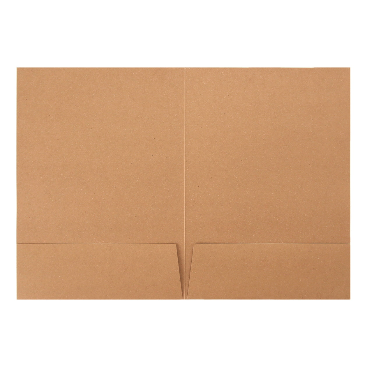 A4フォルダー 2ポケット ボード紙 ブラウン 270g