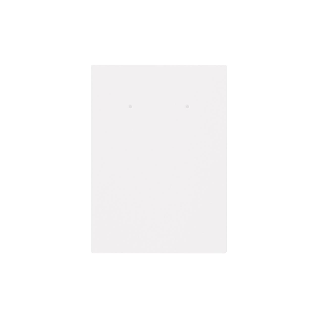 ピアス台紙 65×90上20mm コットンスノーホワイト 348.8g