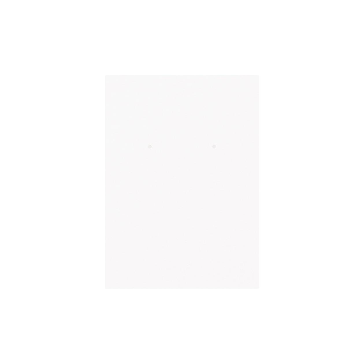 ピアス台紙 65×90上30mm コットンスノーホワイト 348.8g