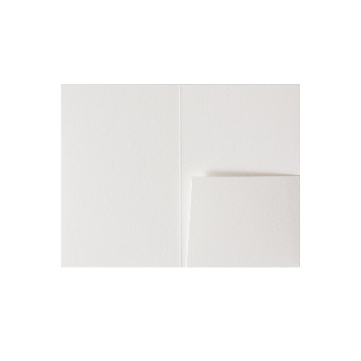 カードフォルダー 1ポケット コットン スノーホワイト 232.8g