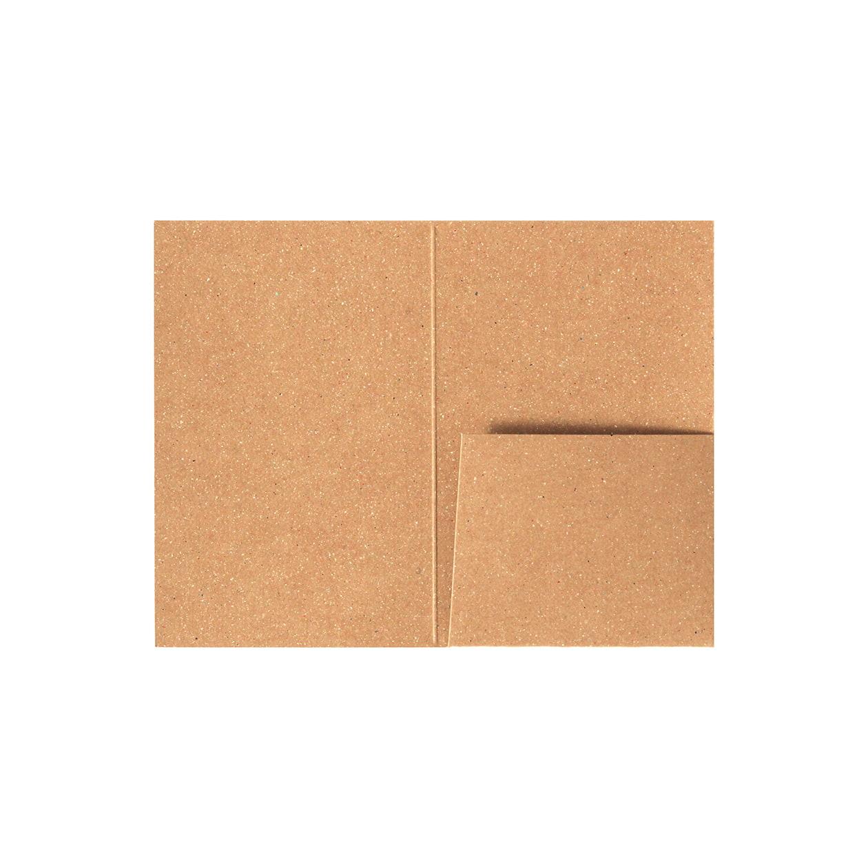 カードフォルダー 1ポケット ボード紙ブラウン 270g