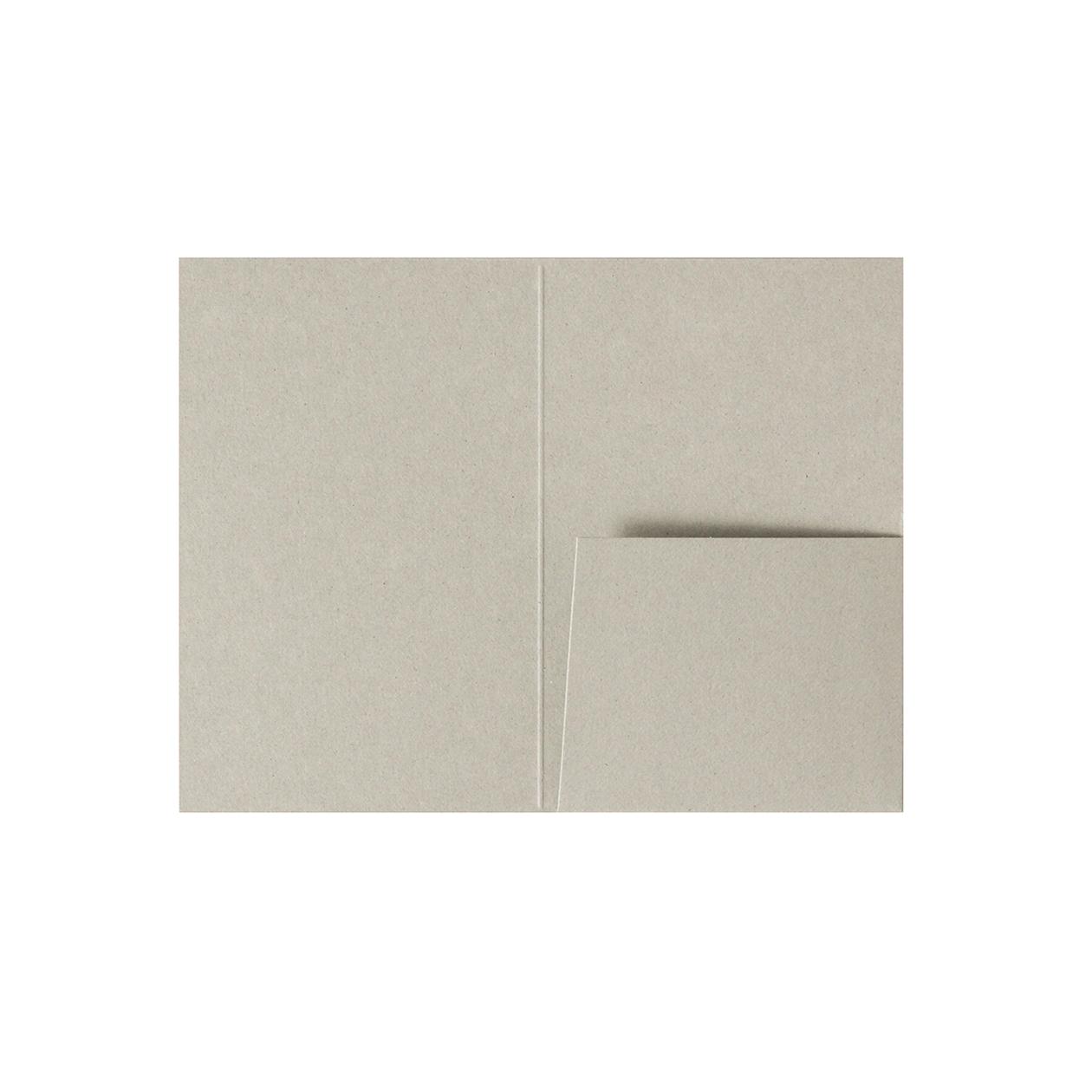 カードフォルダー 1ポケット ボード紙グレー 270g