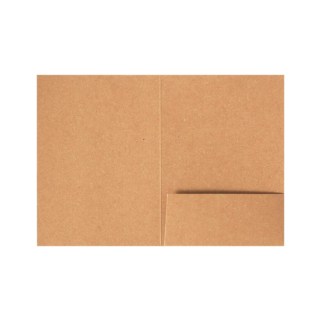 A6フォルダー 1ポケット ボード紙ブラウン 270g