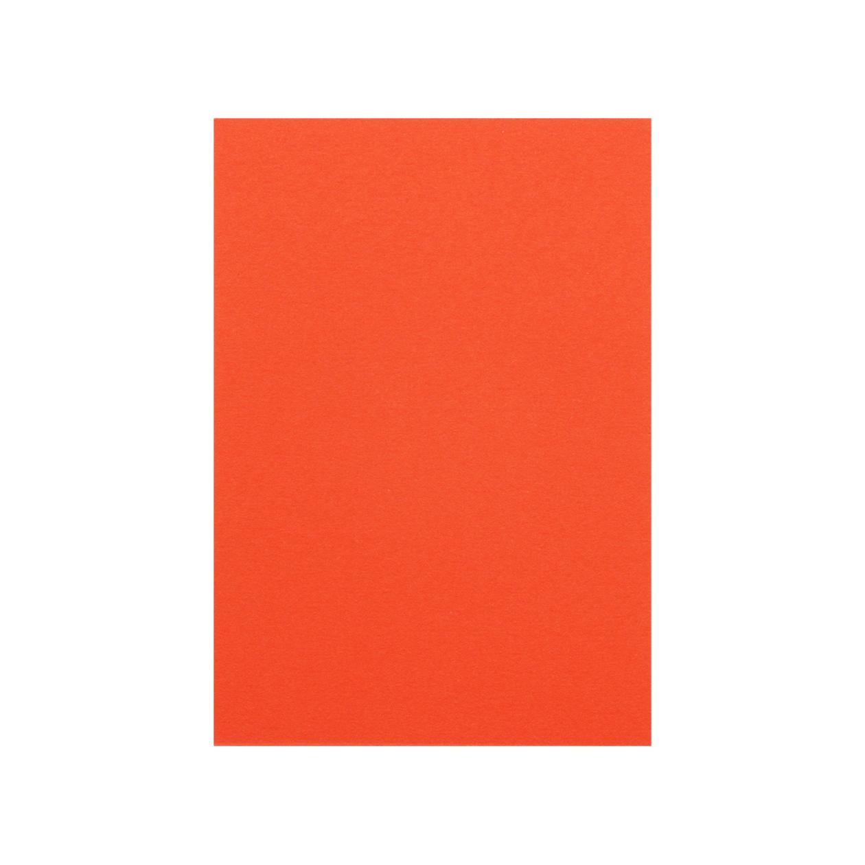 Pカード 二層合紙 朱×スノーホワイト