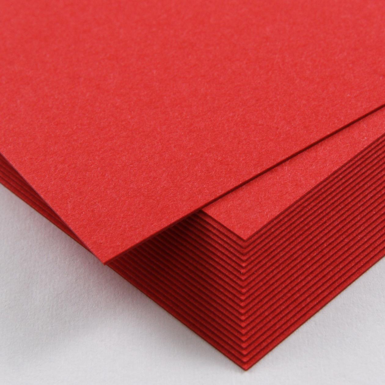 A4カード+α ボード紙 レッド 250g