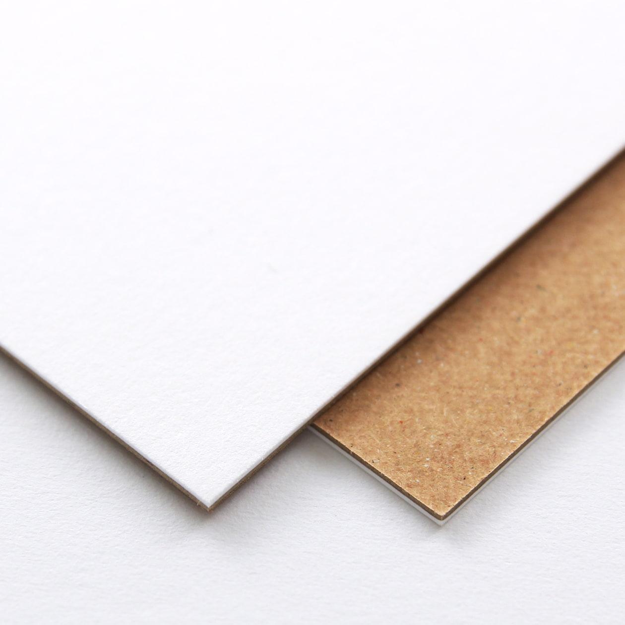 ネームカード 二層合紙 スノーホワイト×ブラウン 798.8g