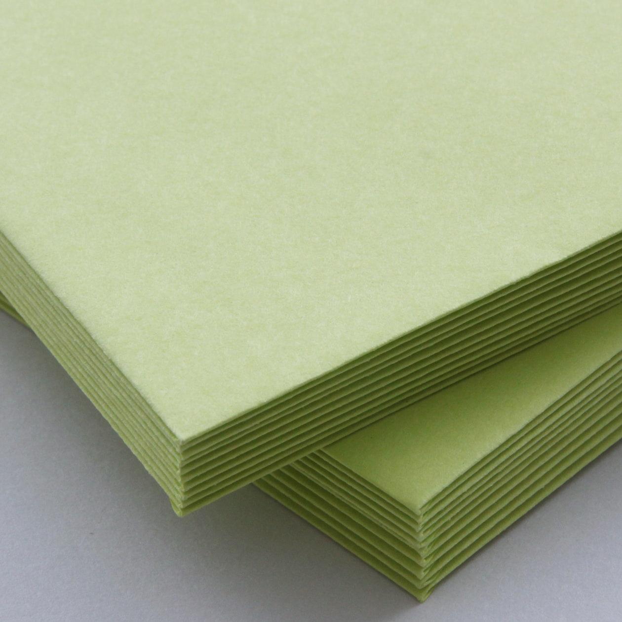 長3カマス封筒 上質カラー グリーン 90.7g