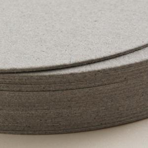 ボード紙グレー コースター丸450g
