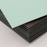 二層合紙 ペールブルー×チョコレート