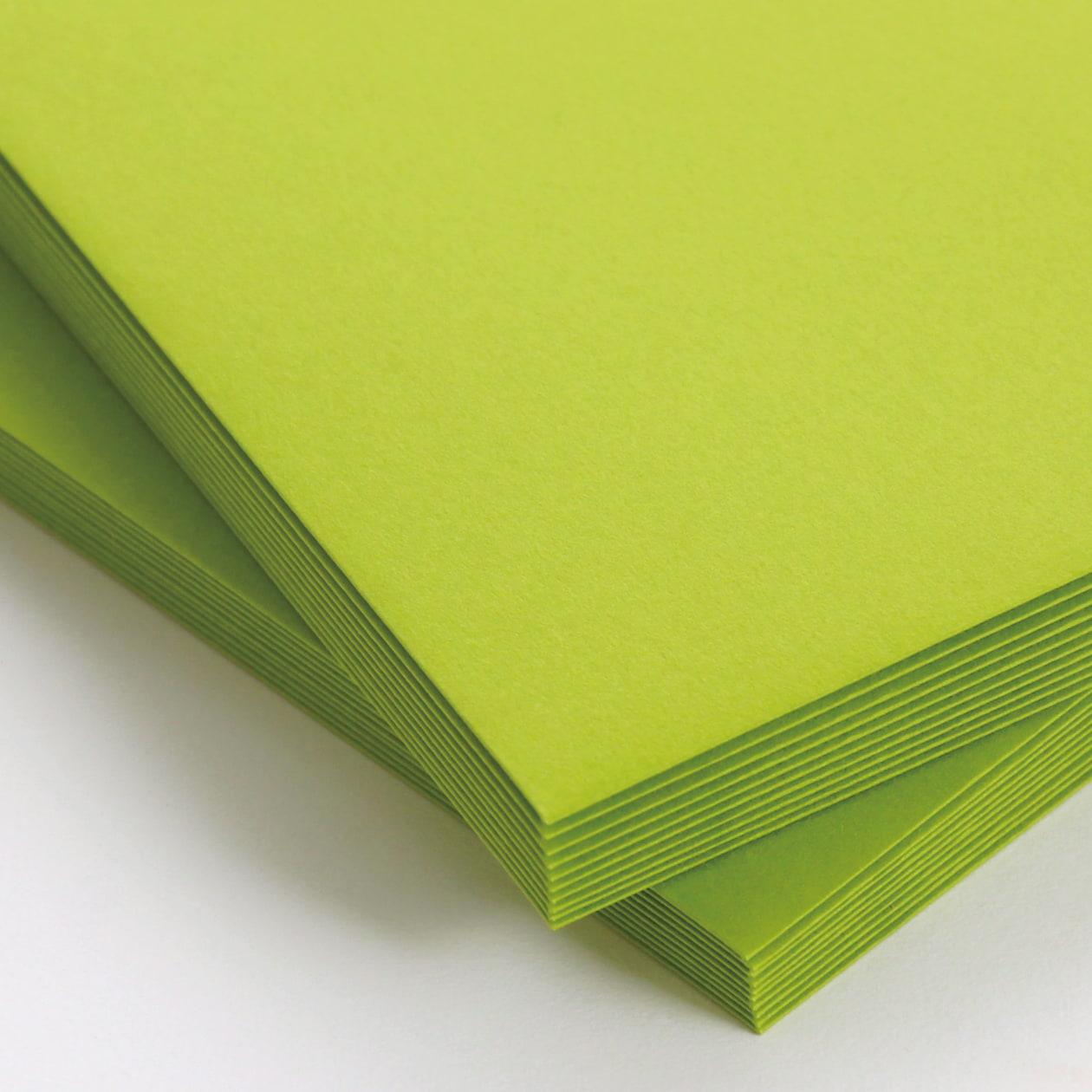 長3カマス封筒 コットン(NTラシャ) 黄緑 116.3g