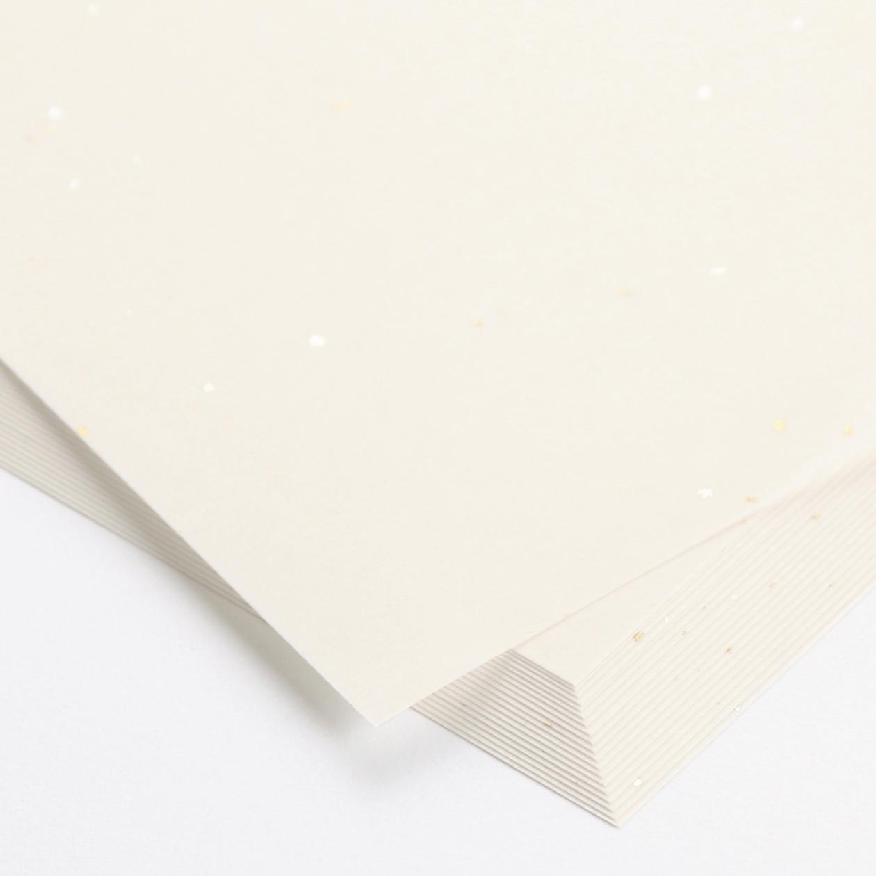 A4シート 白うさぎ 金銀 98g