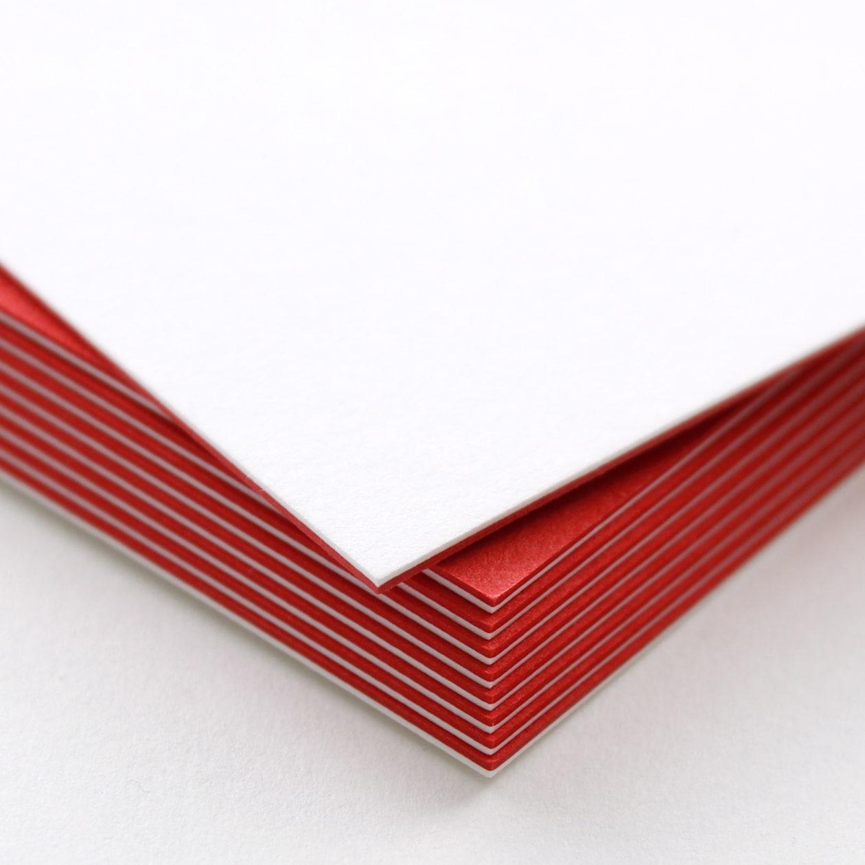 ネームカード 二層合紙 スノーホワイト×レッド 813.8g