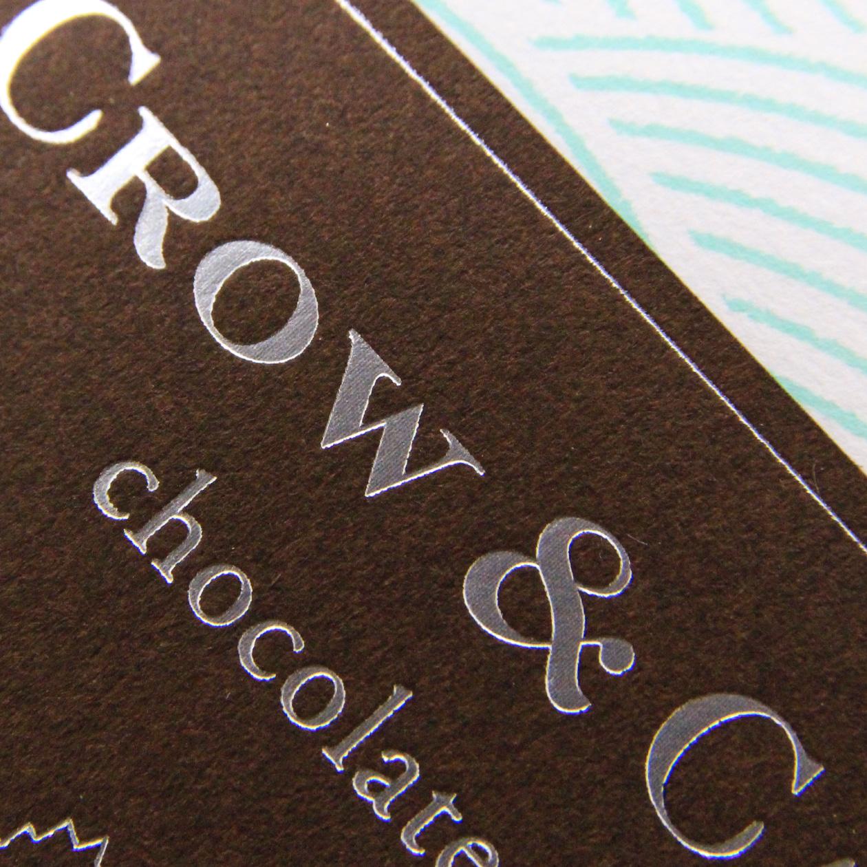 チョコレートショップのパッケージラベル