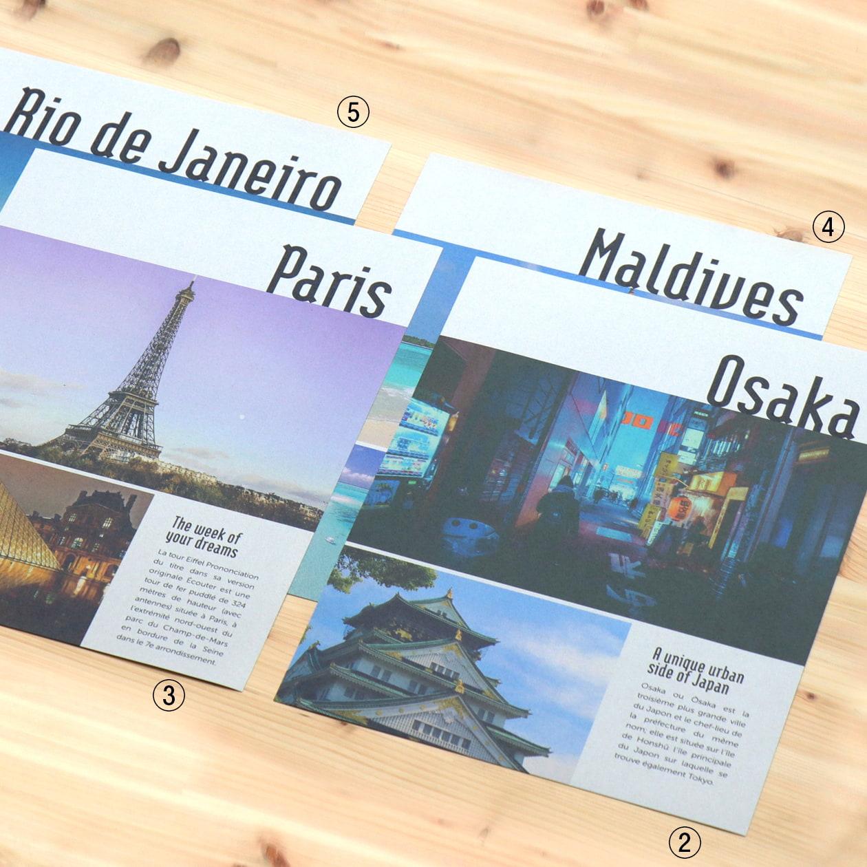 旅行会社のツアーパンフレット用フォルダーセット