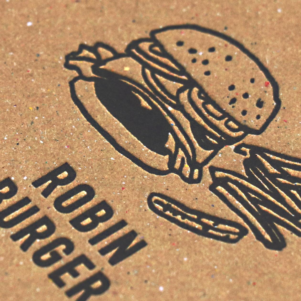 ハンバーガーショップのコースター