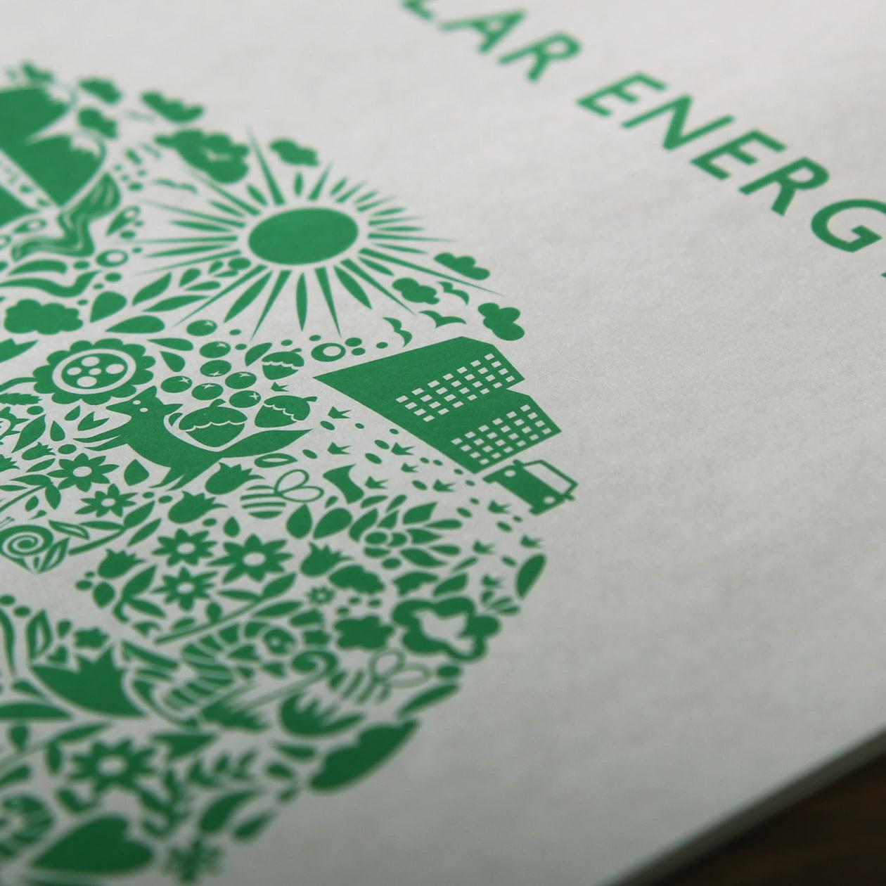 環境保全を意識した冊子
