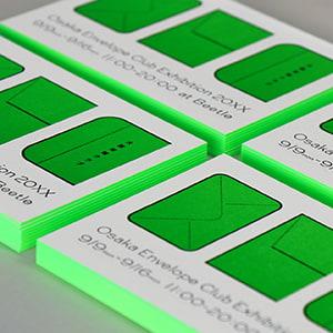 エッジカラーが映える 厚さ1.4mmのカード