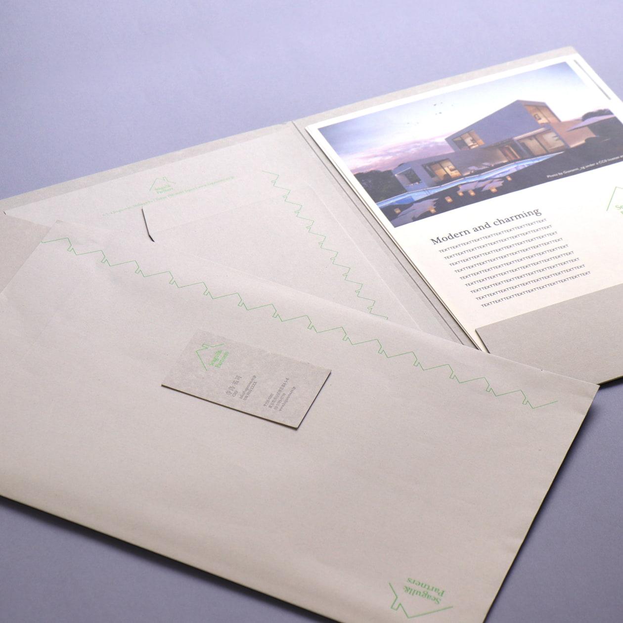 住宅の内覧会で配布するカタログ&書類用フォルダーセット