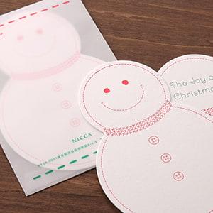 届いた時からわくわく感のある雪だるまのカード