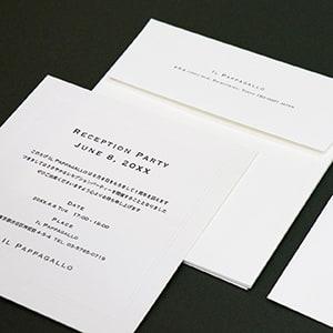 個性派 正方形(スクエア)カードの案内状