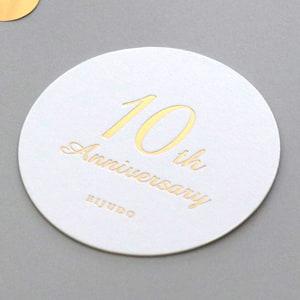 10周年記念パーティーのコースター