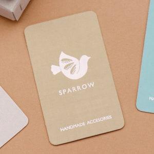 布地でハンドメイドをイメージしたカード