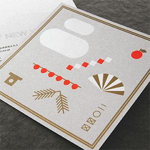 正方形のグラフィカルなカード