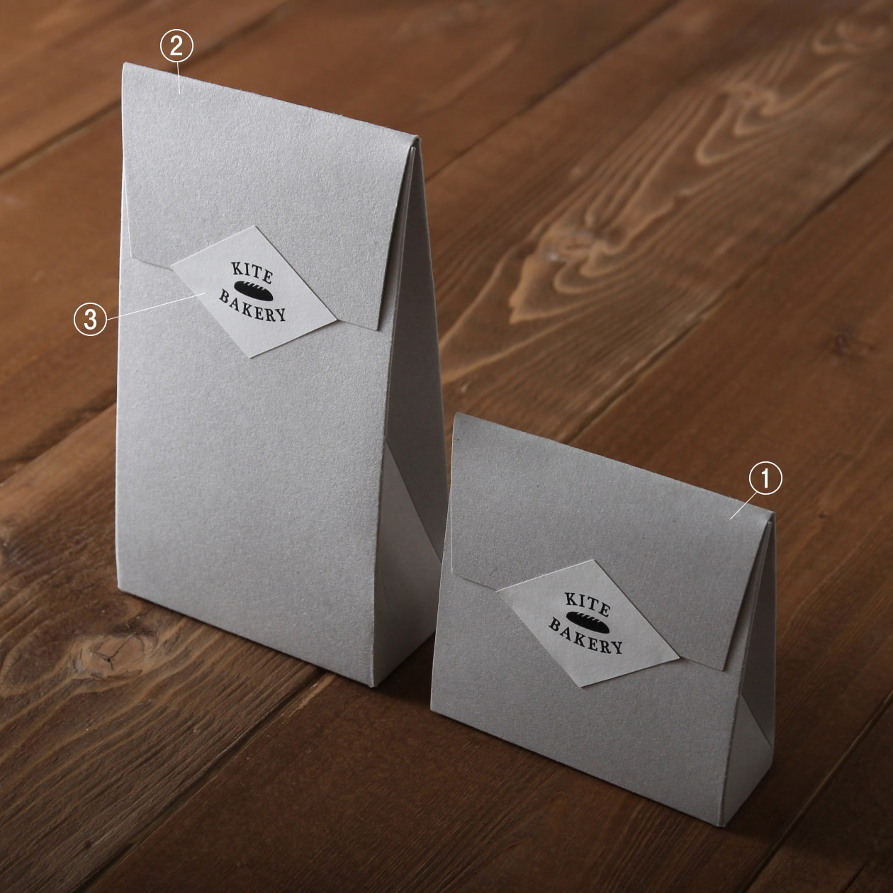ビスケットの商品パッケージ