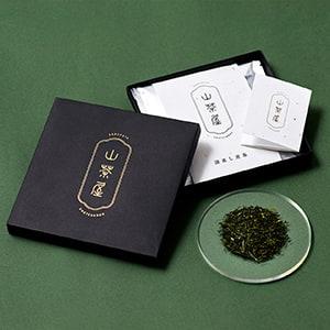 日本茶を入れる正方形の薄型箱