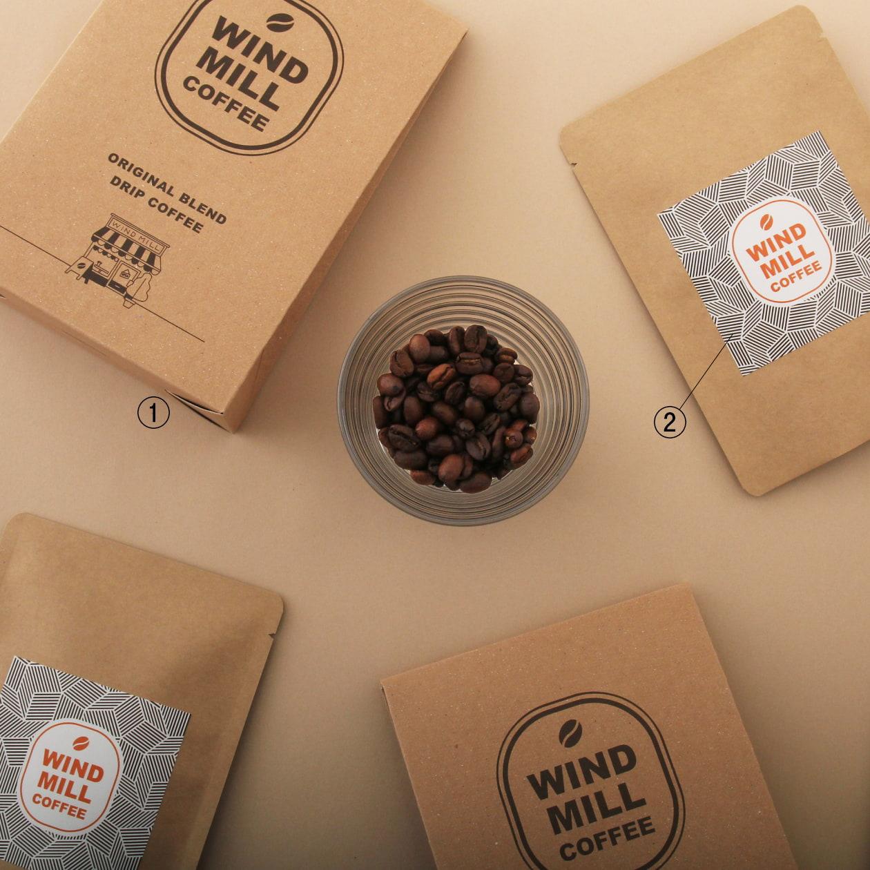 コーヒーのドリップパックが5袋入ったパッケージ