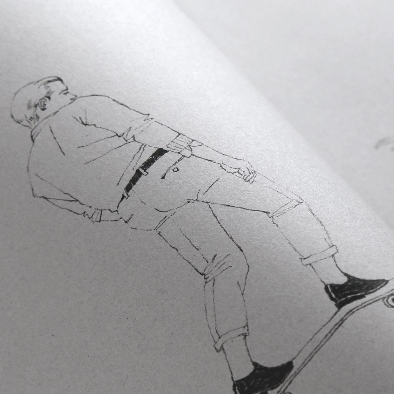 クラフト感のある再生紙でつくる鉛筆画の作品集