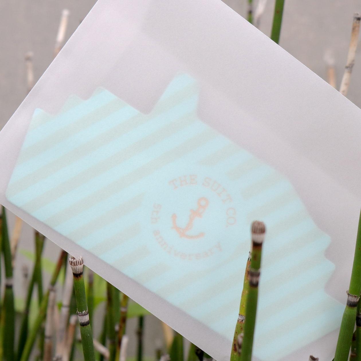 合紙カード+ダイカット加工の招待状