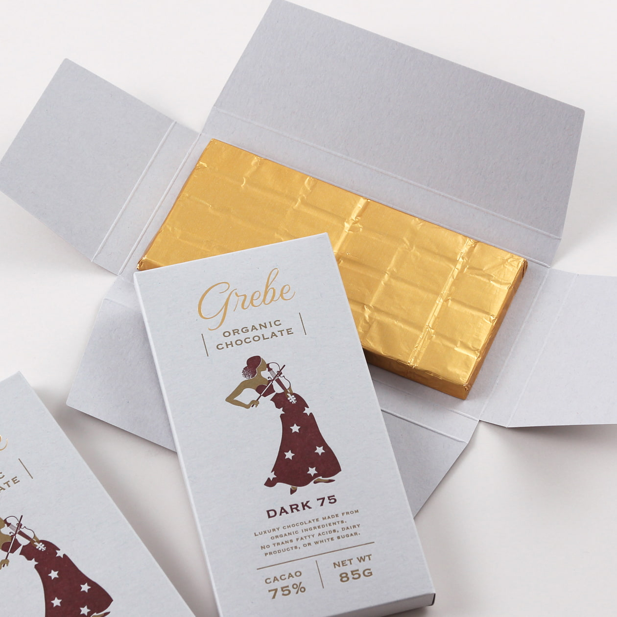 チョコレートの商品パッケージ