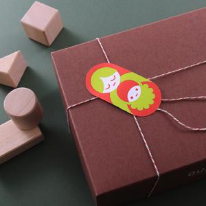 ベビー用品のクリスマスギフト用ステッカー