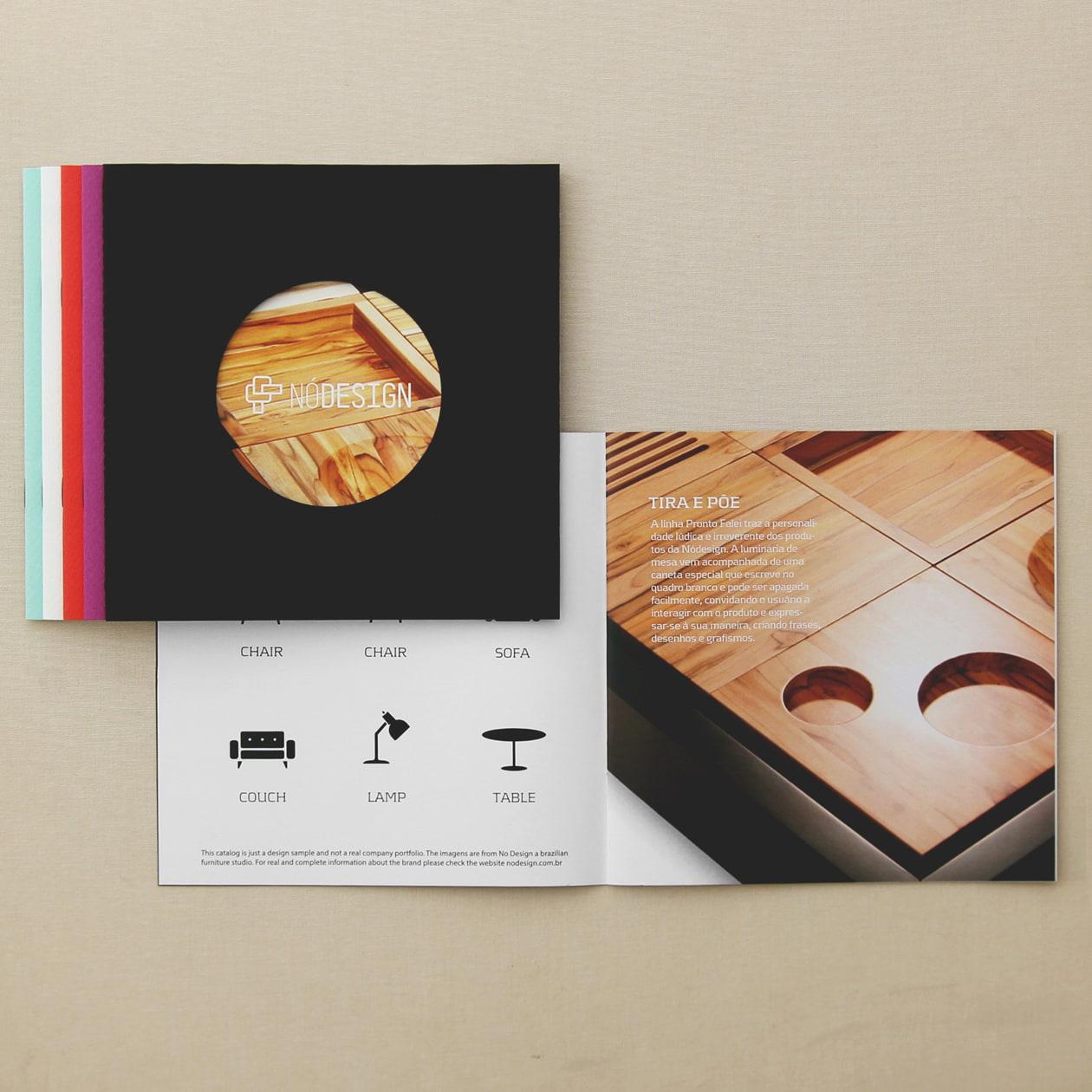 表紙を丸く抜いて楽しむ冊子