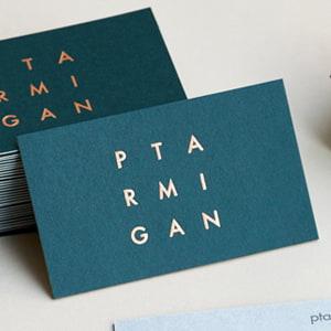 二層合紙で作る名刺