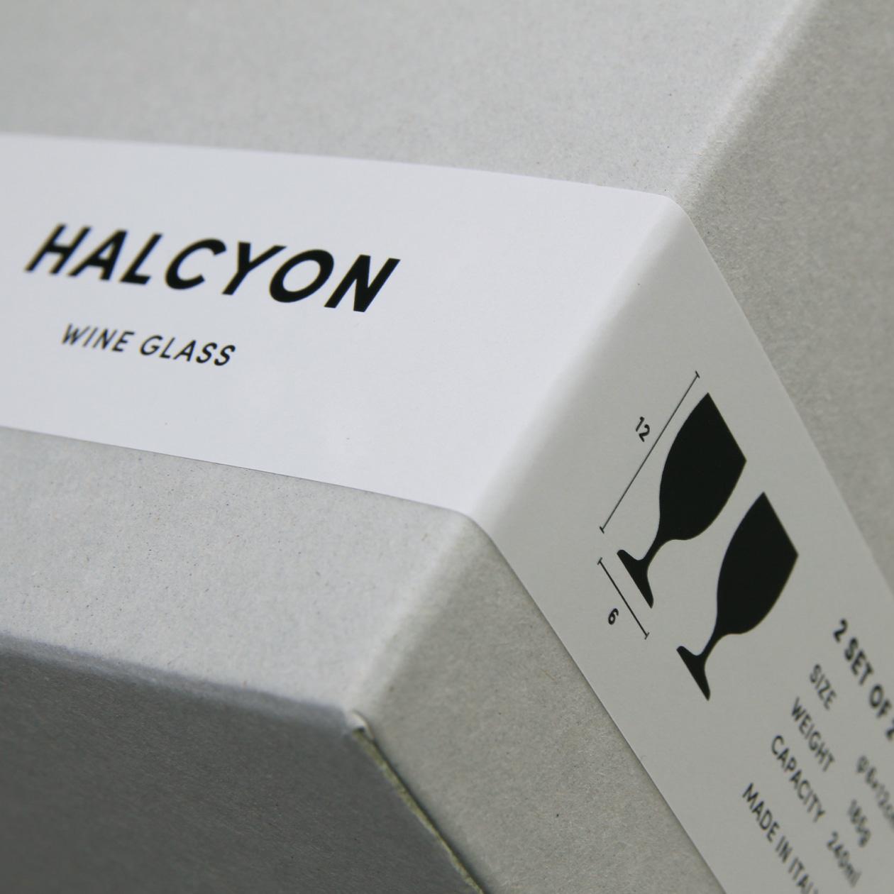 グラスメーカーの商品箱用ラベルシール