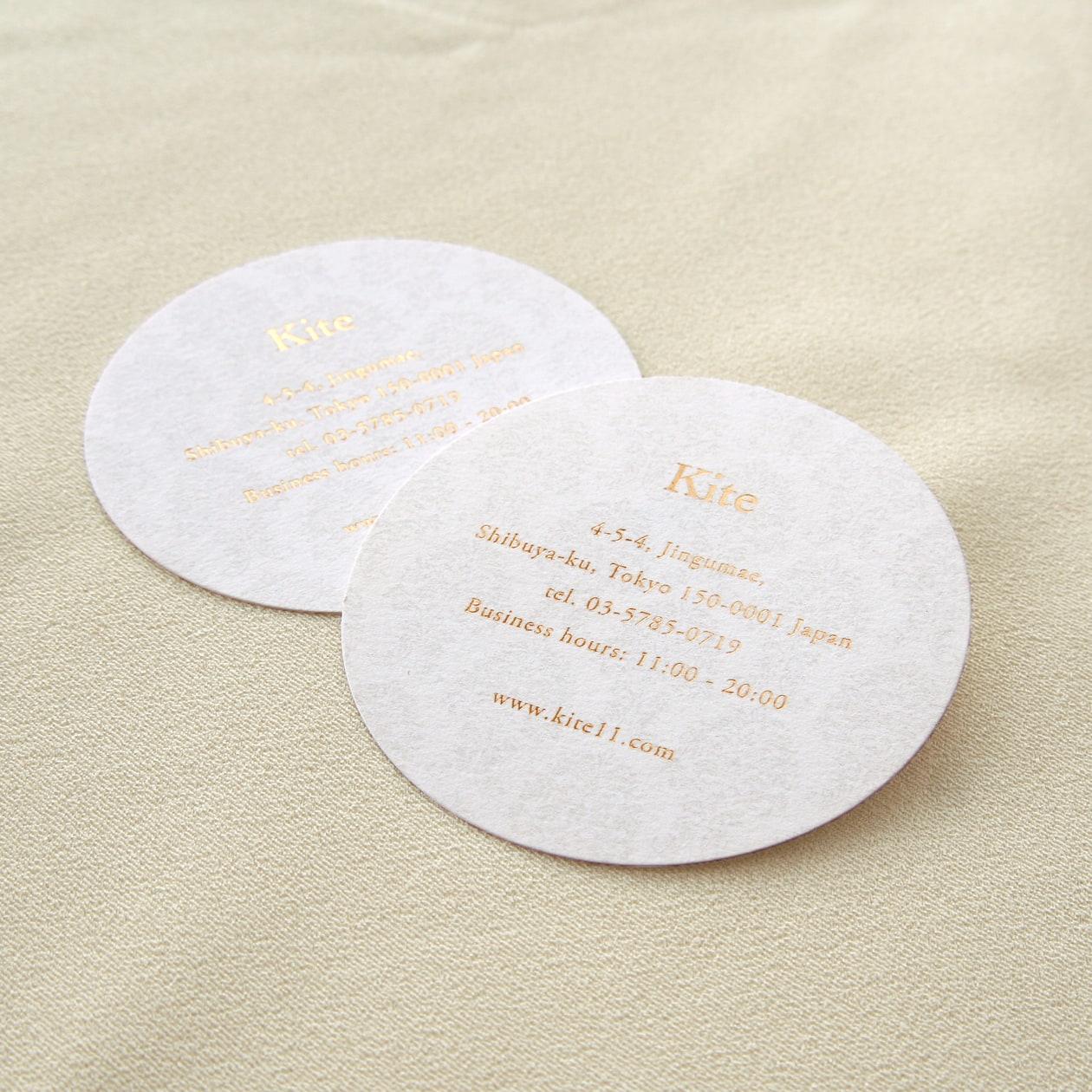 パターン柄印刷+ダイカットの名刺・ショップカード