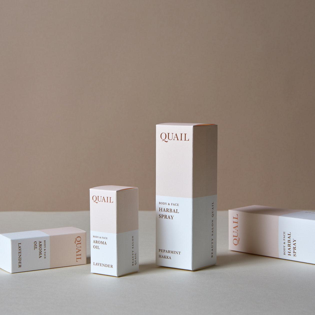 エステティックサロンのオリジナル商品パッケージ