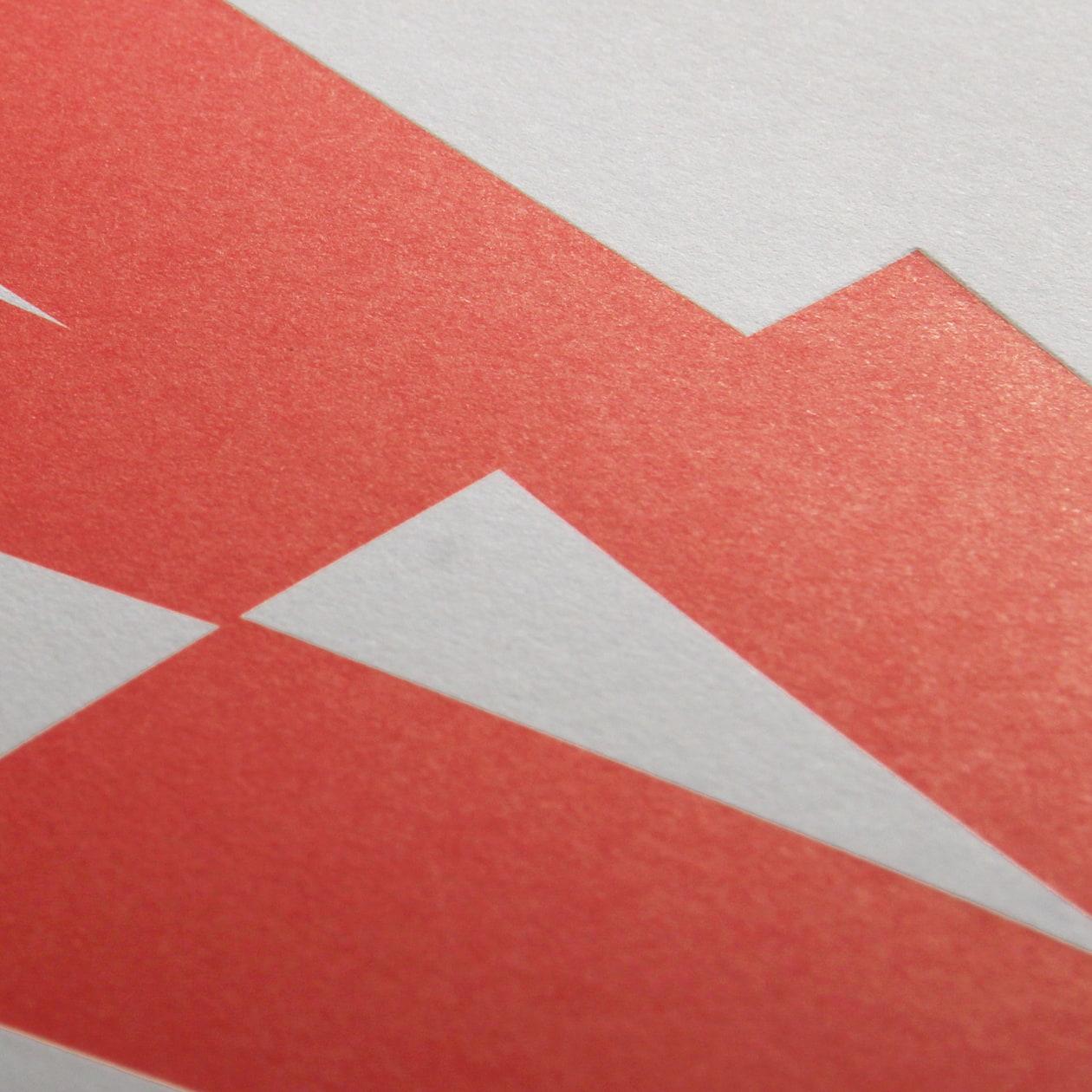 B2サイズのタイポグラフィポスター