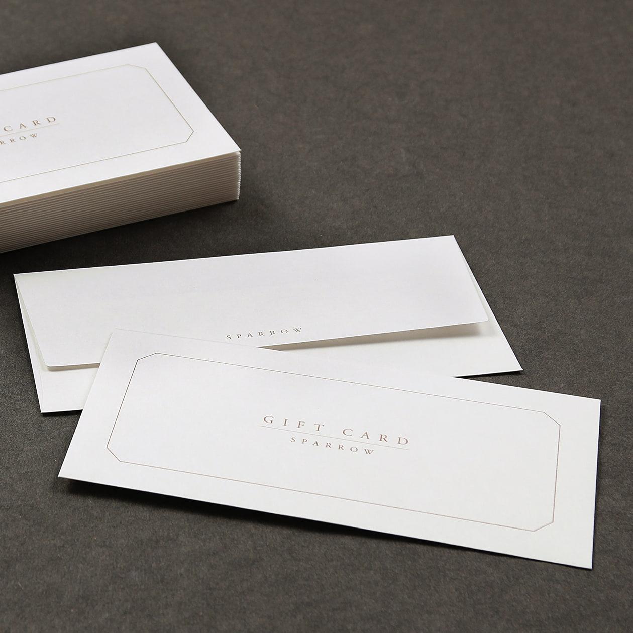 白の商品券袋
