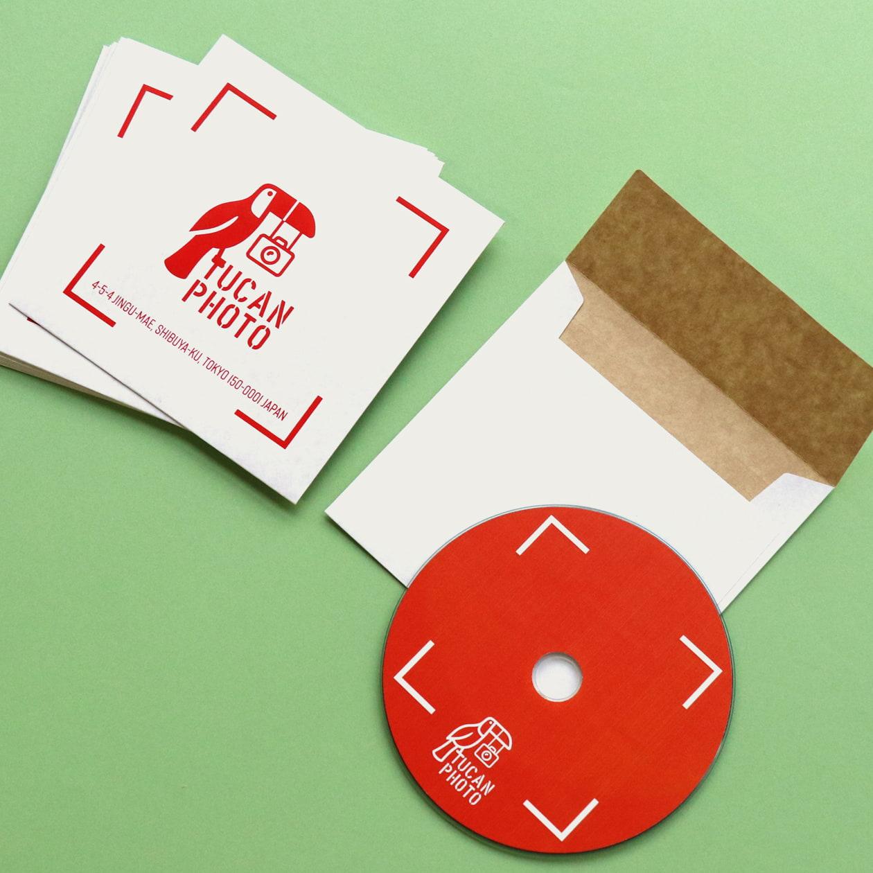 写真スタジオのデータCD用封筒