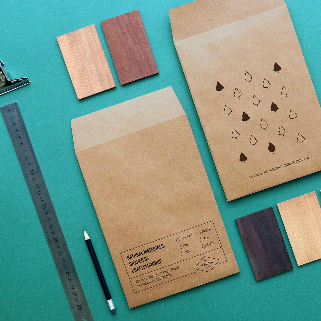 インテリアショップのサンプル用パッケージ