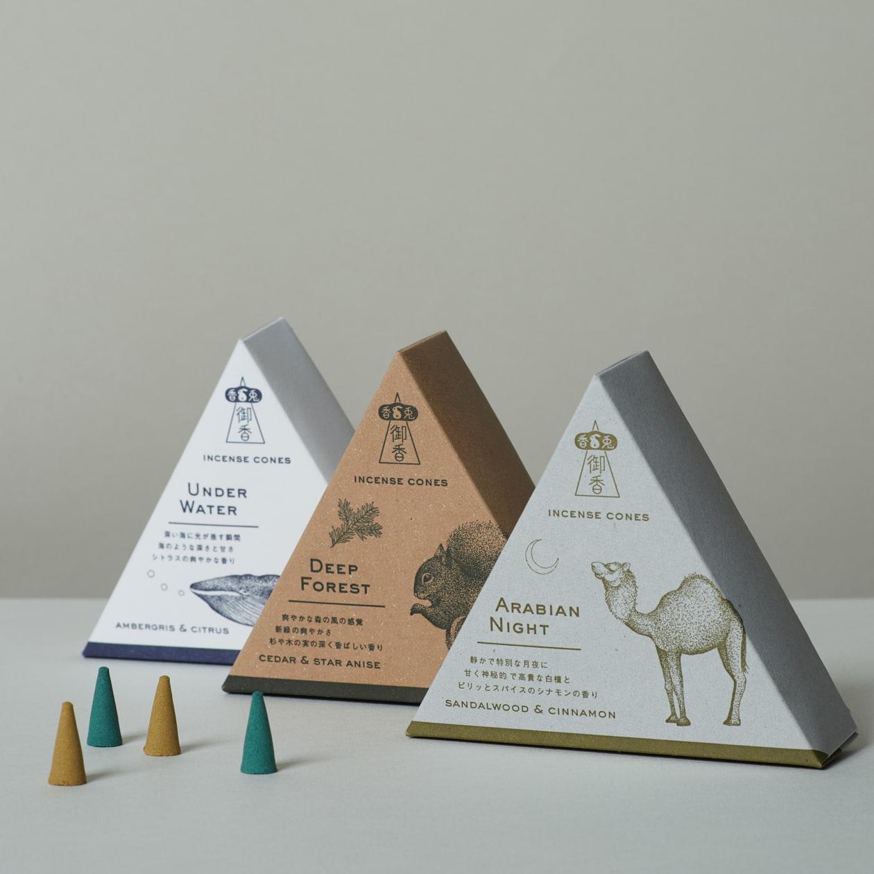 お香の三角形商品BOX