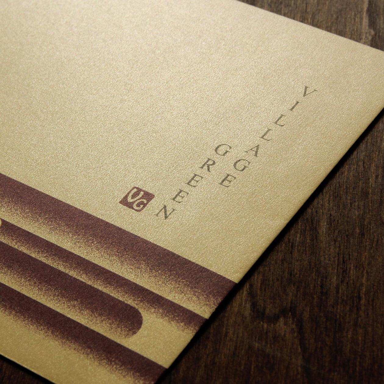 和のテイストのゴールドの封筒