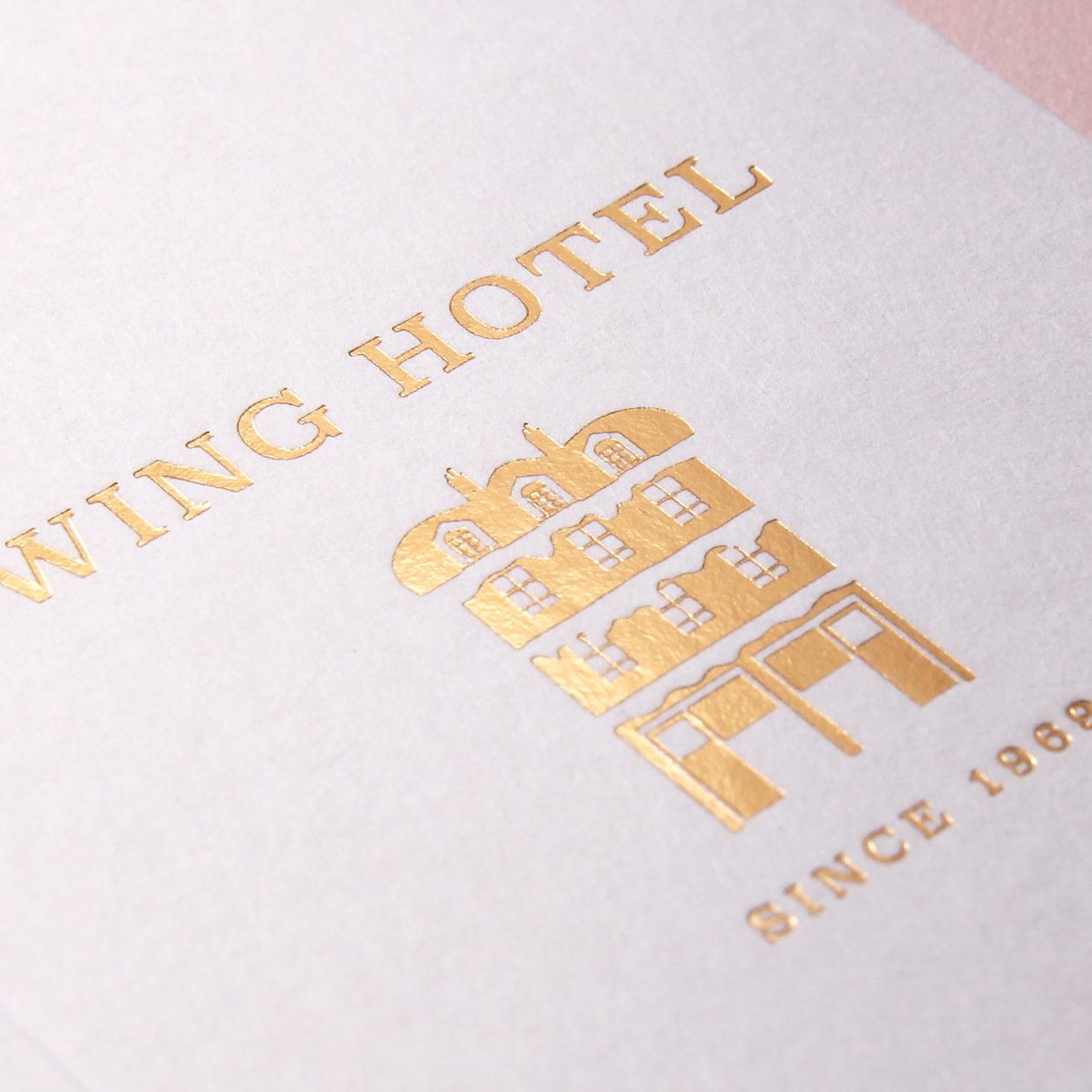 ホテルのカードキー用二つ折フォルダー