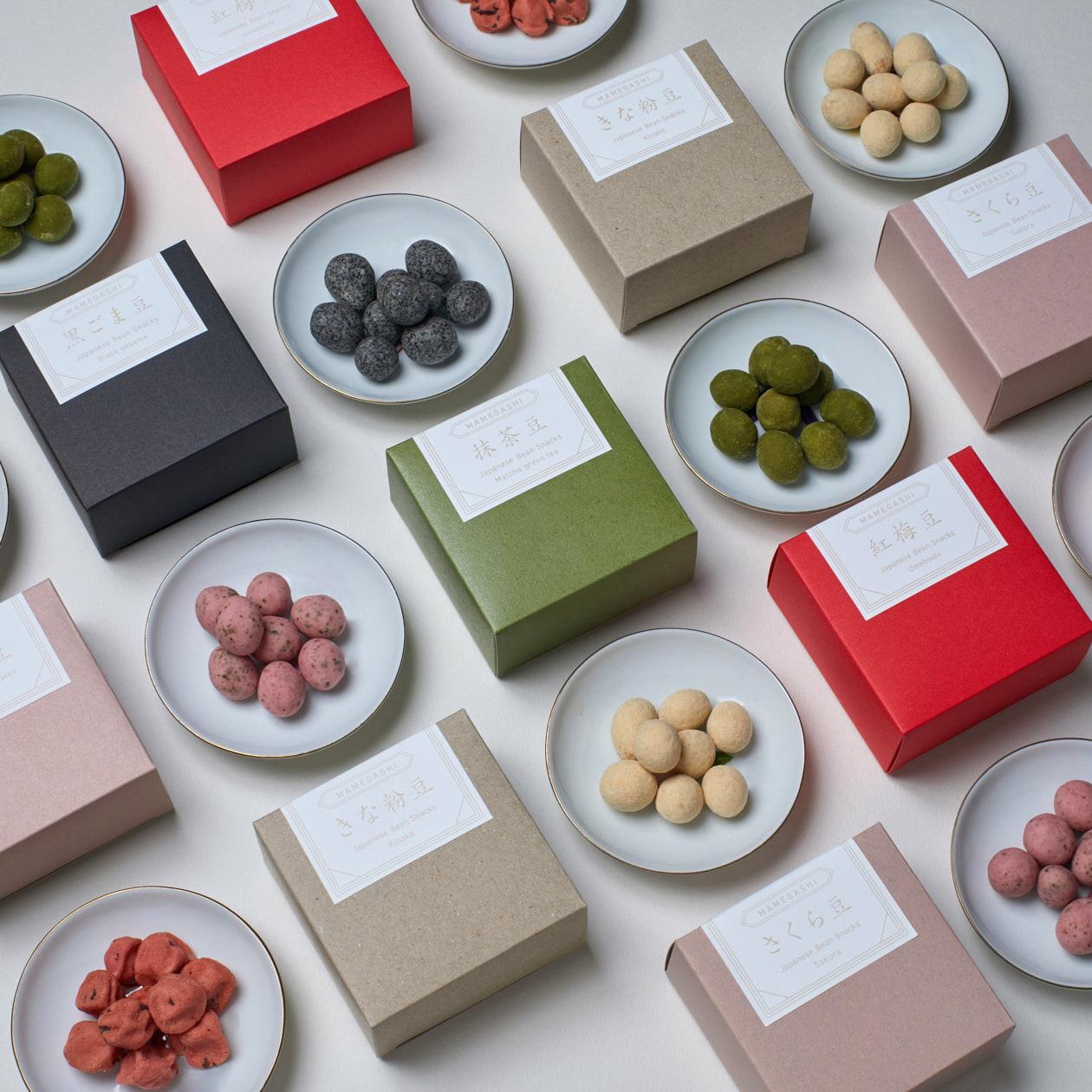 豆菓子の商品パッケージ